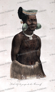 larik, chief of romanzoff (radack) islands, marshall islands, louis choris, 1822