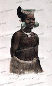 Larik, chief of Romanzoff (Radack) Islands, Marshall Islands, Louis Choris, 1822 | Photos and Images | Travel