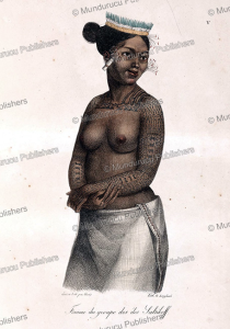woman of the saltikoff island (marshall islands), louis choris, 1822