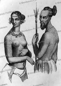 Labeleloa, chief of Koutousoff and woman of Tchitchagoff, Victor Marie Felix Danvin, 1836. | Photos and Images | Travel