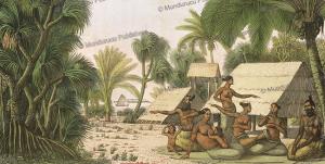 Radack family dancing and singing, Marshall Islands, Ludwig Choris, 1822 | Photos and Images | Travel