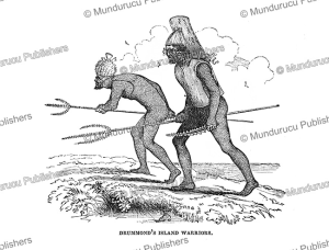warriors of drummond island (tabiteuea), gilbert islands, charles wilkes, 1845
