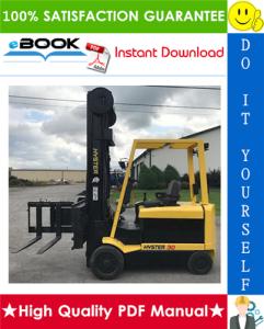 hyster n30xmh (pre-sem) [c210] electric reach truck service repair manual