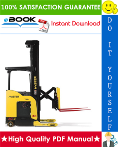 hyster n45zr, n35zdr (c264) reach truck forklifts service repair manual