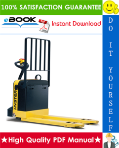 Hyster W40XT (A218) Walkie Pallet Truck Service Repair Manual | eBooks | Technical