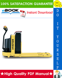 Hyster W60Z (A231) WALKIE Pallet Truck Service Repair Manual | eBooks | Technical
