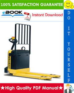 Hyster W80Z (A234) WALKIE Pallet Truck Service Repair Manual | eBooks | Technical