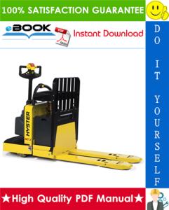 hyster w45xt (b215) walkie pallet truck service repair manual