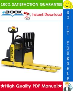 Hyster B60ZAC (B230) End Rider Pallet Trucks Service Repair Manual | eBooks | Technical