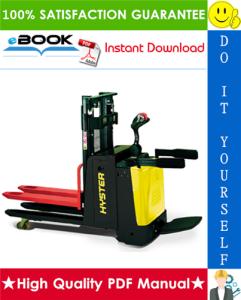 Hyster P2.0SD (B433) Pedestrian Pallet Truck Service Repair Manual | eBooks | Technical