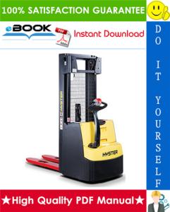 Hyster S1.0E (B440) Pedestrian Stackers Service Repair Manual   eBooks   Technical