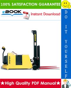 Hyster W25ZC, W30ZC, W40ZC (B454) Walkie Counterbalanced Stacker Service Repair Manual | eBooks | Technical