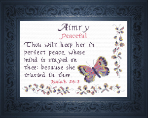 Name Blessings - Aimry | Crafting | Cross-Stitch | Other