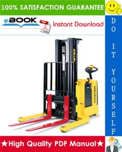 hyster w25za2, w30za2 (b495) walkie straddle stacker service repair manual