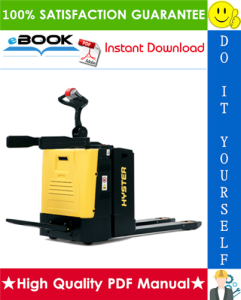 Hyster P2.0SE (B978) Pedestrian Pallet Truck Service Repair Manual | eBooks | Technical