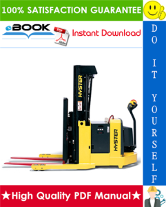 Hyster W20ZR, W30ZR, W40Z (C455) Walkie Reach Stackers Service Repair Manual | eBooks | Technical