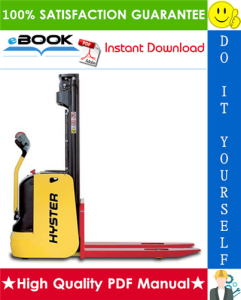 Hyster S1.0, S1.2, S1.4, S1.6 (D456) Pedestrian Stackers Service Repair Manual | eBooks | Technical