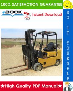 hyster s40xl, s50xl, s60xl (a187) forklift trucks service repair manual