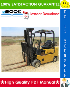 Hyster S40XL, S50XL, S60XL (B187) Forklift Trucks Service Repair Manual | eBooks | Technical