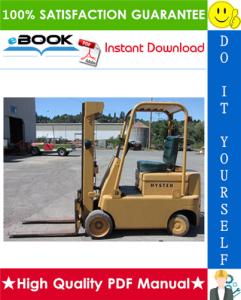 Hyster S30C, S40C, S50C (Americas) [C002] Forklift Trucks Service Repair Manual | eBooks | Technical