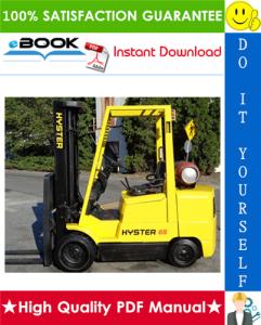 Hyster S40XM, S45XM, S50XM, S55XM, S60XM, S65XM (D187) Forklift Trucks Service Repair Manual | eBooks | Technical