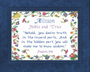 Name Blessings - Allison 2 | Crafting | Cross-Stitch | Other