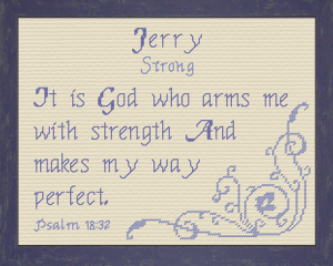 Name Blessings - Jerry 2 | Crafting | Cross-Stitch | Other