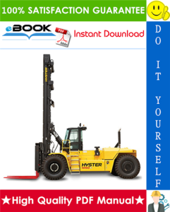 Hyster H800HD, H900HD, H1050HD, H800HDS, H900HDS, H970HDS, H1050HDS (A917) High-Capacity Forklift Trucks Service Repair Manual | eBooks | Technical