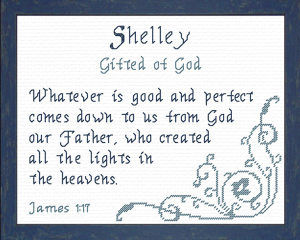 name blessings - shelley