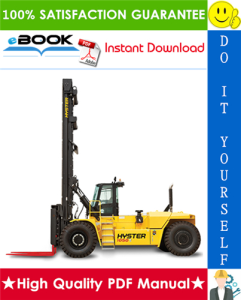 Hyster H800HDS, H900HD, H900HDS, H970HD, H970HDS, H1050HD, H1050HDS (B917) High-Capacity Forklift Trucks Service Repair Manual | eBooks | Technical