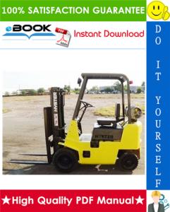 Hyster H25XL, H30XL, H35XL, S25XL, S30XL, S35XL (C001) Forklift Trucks Service Repair Manual | eBooks | Technical