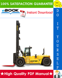 Hyster H800HDS, H900HDS, H970HDS, H1050HDS, H900HD, H970HD, H1050HD (C917) High-Capacity Forklift Trucks Service Repair Manual | eBooks | Technical