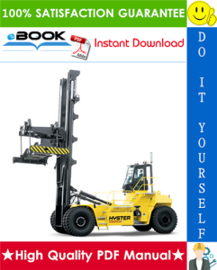 hyster h1050hd-16ch, h1150hd-16ch (g117) container handlers service repair manual