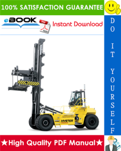 Hyster H1050HD-16CH, H1150HD-16CH (H117) Container Handlers Service Repair Manual | eBooks | Technical