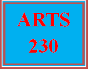 ARTS 230 Week 1 Defining the Visual Arts Assignment Options | eBooks | Education