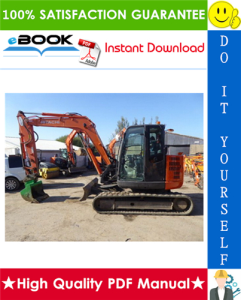 Hitachi ZX85USBLC-3 Hydraulic Excavator Service Repair Manual | eBooks | Technical