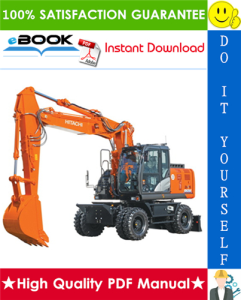 hitachi zaxis 170w-3, zaxis 190w-3 wheeled excavator service repair manual