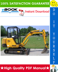 JCB 802, 802.4, 802 super Mini Excavator Service Repair Manual | eBooks | Technical