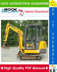 jcb 801 tracked excavator service repair manual