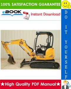 jcb 8027z, 8032z mini excavator service repair manual