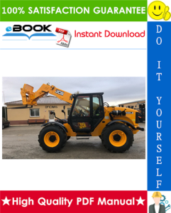 jcb 528-70, 528s telescopic handler service repair manual