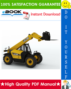 jcb 527-58 telescopic handler service repair manual