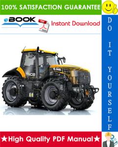 jcb 125, 135, 145, 150, 155, 185 fastrac service repair manual