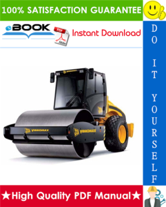 jcb vibromax vm range tier 3 single drum roller service repair manual