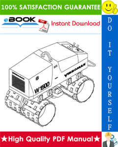 jcb vibromax w1500 trench roller service repair manual (starting at s/n jkc4200800)
