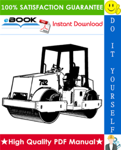 JCB Vibromax 752 Tandem Drum Roller Service Repair Manual | eBooks | Technical