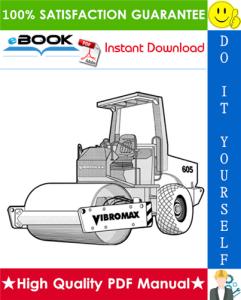 JCB Vibromax 405, 605, 606 Single Drum Roller Service Repair Manual | eBooks | Technical