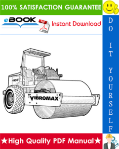 JCB Vibromax 1103 Single Drum Roller Service Repair Manual | eBooks | Technical