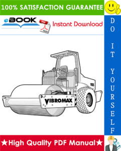JCB Vibromax 1105, 1106, 1405, 1805 Single Drum Roller Service Repair Manual | eBooks | Technical