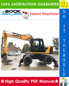 JCB JS130W, JS150W Wheeled Excavators Service Repair Manual | eBooks | Technical